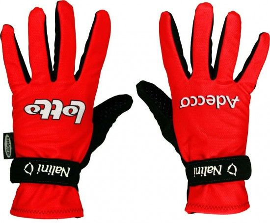 Nalini Lotto Adecco Winter Long Finger Gloves - Professional Cycling Team