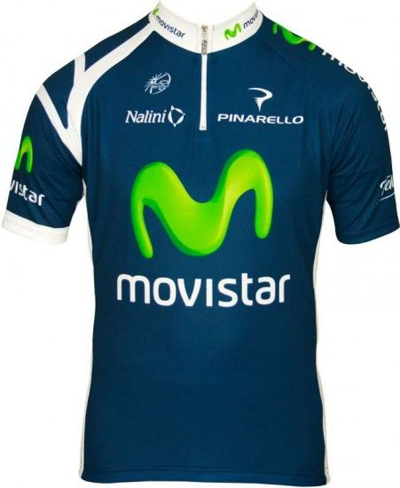 Nalini Movistar 2012 Professional Cycling Team - Cycling Jersey With Short Zip