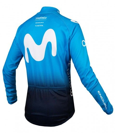 Endura Movistar 2019 Long Sleeve Cycling Jersey - Professional Cycling Team