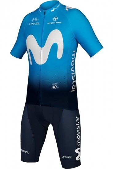 Endura Movistar 2019 Set (Jersey + Bib Shorts) - Professional Cycling Team
