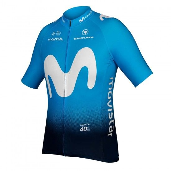 Endura Movistar 2019 Short Sleeve Cycling Jersey (Continuous Zipper)- Professional Cycling Team