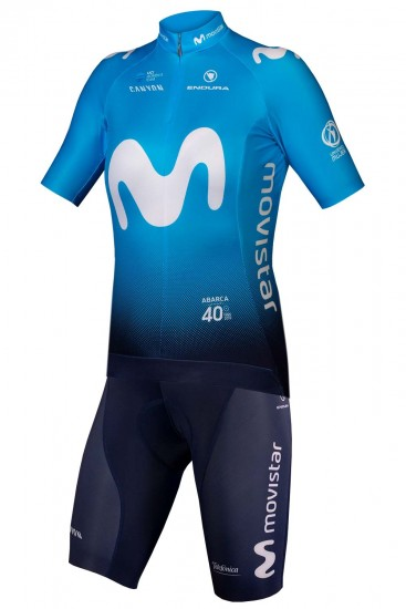 Endura Movistar 2019 Womens Set (Jersey + Bib Shorts) - Professional Cycling Team