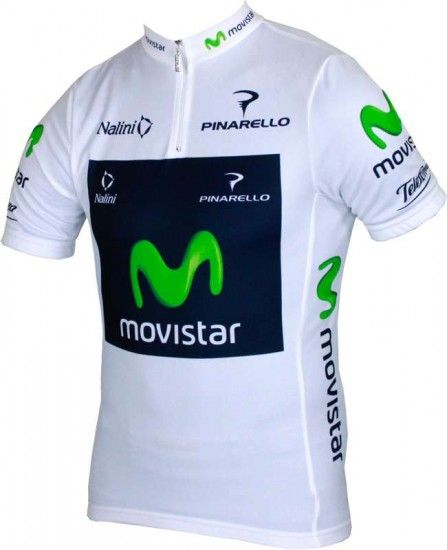 Nalini Movistar Best Young Profi 2013 Professional Cycling Team - Cycling Jersey With Short Zip