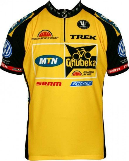 Vermarc Mtn Qhubeka 2012 Professional Cycling Team - Cycling Jersey With Short Zip