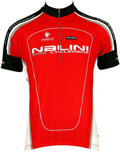 Nalini Base Cycling Jersey For Kids Antracite Red