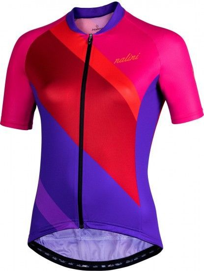 Nalini Chic 2.0 Womens Short Sleeve Cycling Jersey Pink/Purple (E19-4010)