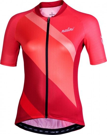 Nalini Chic 2.0 Womens Short Sleeve Cycling Jersey Red/Rose (E19-4600)