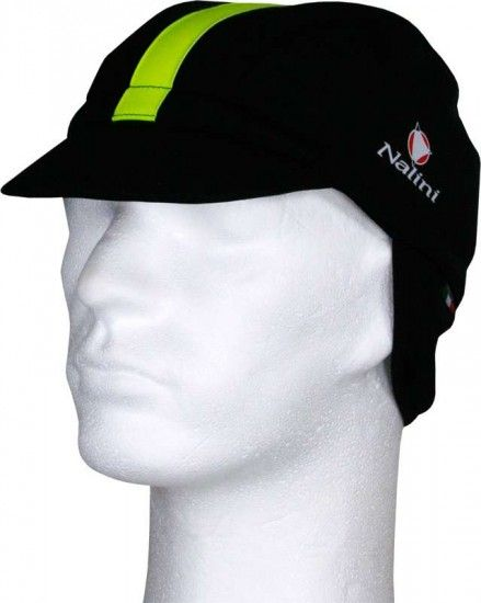 Nalini Classic Giustino 1 Thermo Winter Cap Black/Neon Yellow