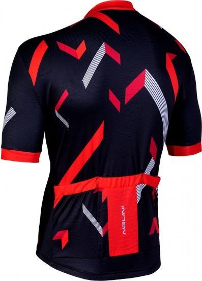 Nalini Discesa 2.0 Short Sleeve Cycling Jersey Black/Red (E19-4100)