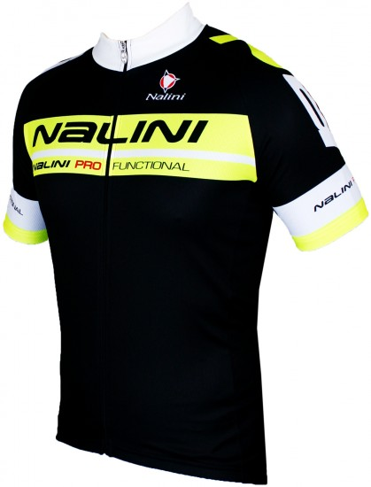 Nalini Kenty Short Sleeve Cycling Jersey Black/Yellow Fluo (E19-5051S)
