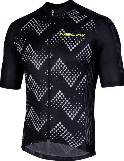 Nalini Podio 2.0 Short Sleeve Cycling Jersey Black/White (E19-4000)