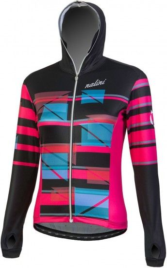 Nalini Pro Affascinante Ls Jersey Womens Long Sleeve Cycling Jersey Black (E18-4000)