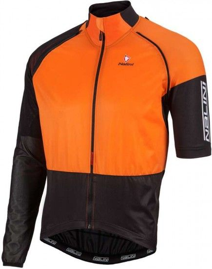 Nalini Pro Combi Wind Jersey Convertible Jacket Orange (E17-4151)