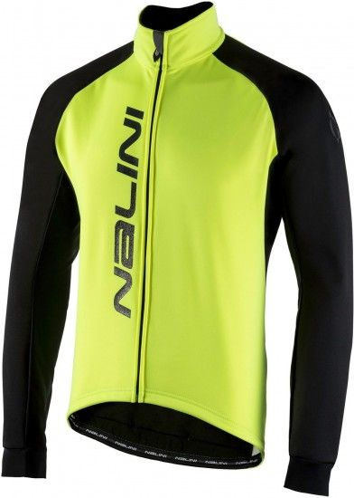 Nalini Pro Crit Warm Jkt Winter Cycling Jacket Black/Yellow (I18-4050)
