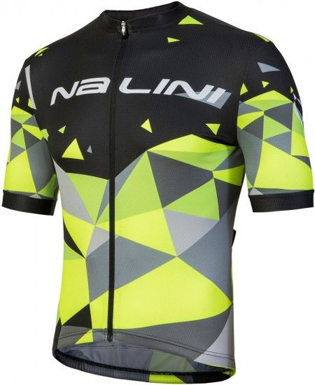 Nalini Pro Discesa Jersey Short Sleeve Cycling Jersey Black/Yellow (E18-4000)