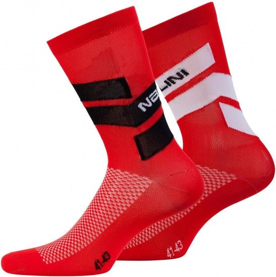 Nalini Pro Folgore Cycling Socks Red (E18-4100)