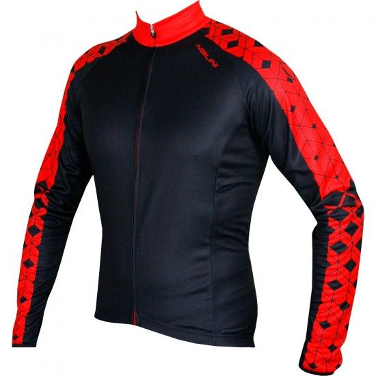Nalini Pro Gracrux New Long Sleeve Cycling Jersey Black/Red (I18-4100)