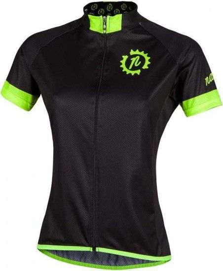 Nalini Pro Green Lady Jersey Mtb - Short Sleeve Jersey Black (E16-4000)