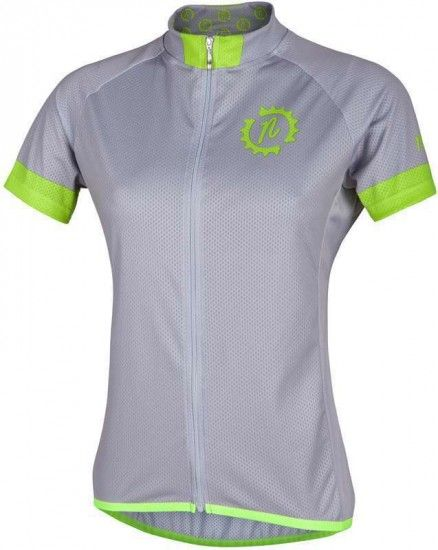 Nalini Pro Green Lady Jersey Mtb - Short Sleeve Jersey Grey (E16-4001)