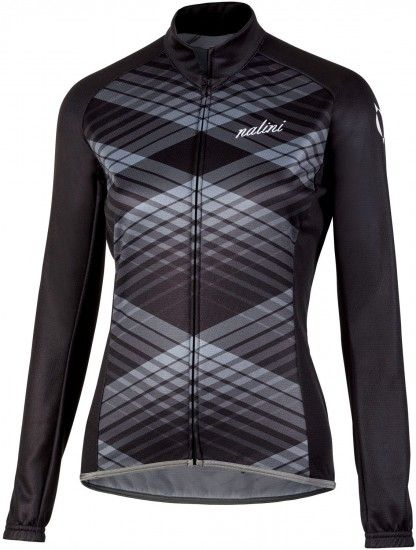 Nalini Pro Lady Ti Womens Long Sleeve Cycling Jersey Black (I18-4000)