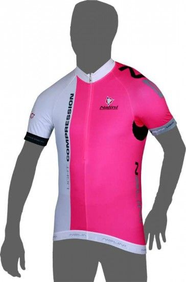 Nalini Pro Light Compression Ti Short Sleeve Jersey Pink