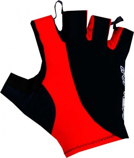 Nalini Pro Logo Gloves Short Finger Gloves Black/Red (E18-4000)