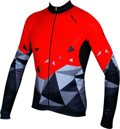 Nalini Pro Logo Jersey B Long Sleeve Cycling Jersey Black/Red (I18-4100)