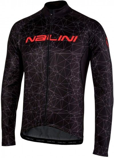 Nalini Pro Logo Ti Long Sleeve Cycling Jersey Black (I18-4000)