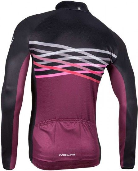 Nalini Pro Merak Long Sleeve Cycling Jersey Burgundy-Red (I17-4100)