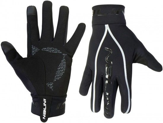 Nalini Pro New Pure Mid Gloves Long Finger Cycling Gloves Black (E19-4000)