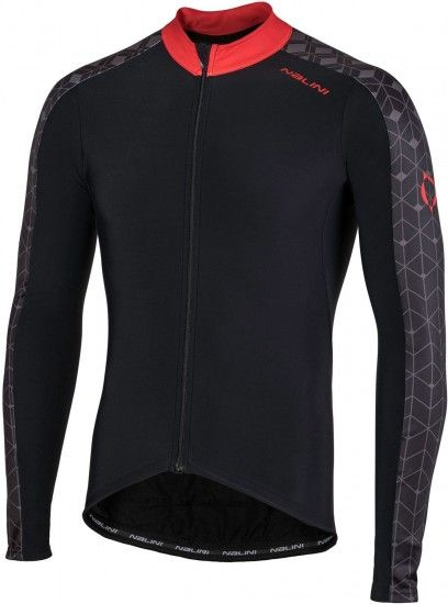 Nalini Pro W Jersey Long Sleeve Cycling Jersey Black/Red (I18-4100)