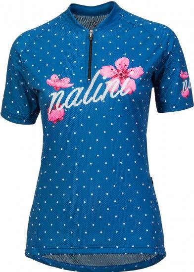 Nalini Pro Rocky Jersey Mtb Womens Short Sleeve Cycling Jersey Blue (E18-4200)
