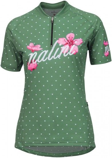 Nalini Pro Rocky Jersey Mtb Womens Short Sleeve Cycling Jersey Green (E18-4400)