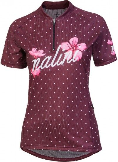 Nalini Pro Rocky Jersey Mtb Womens Short Sleeve Cycling Jersey Red (E18-4180)