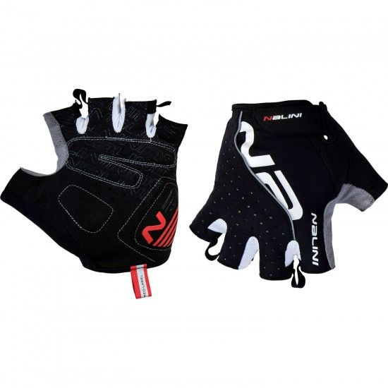 Nalini Pro Red Gloves Short Finger Gloves Black (E19-4000)