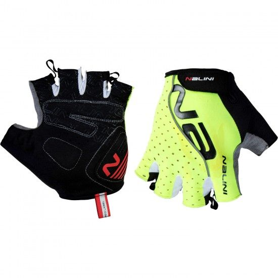 Nalini Pro Red Gloves Short Finger Gloves Neon Yellow (E19-4050)