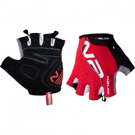 Nalini Pro Red Gloves Short Finger Gloves Red (E19-4100)