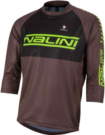 Nalini Pro Trail Jersey Medium Sl Mtb - Jersey Green/Brown (E17-4000)