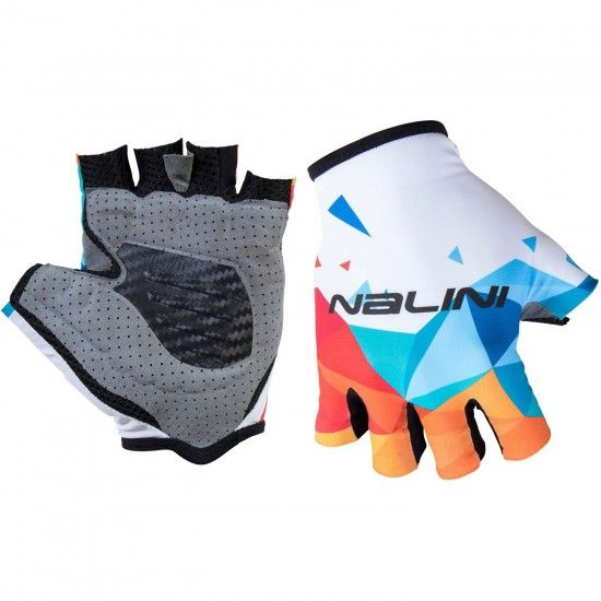 Nalini Pro Vetta Gloves Short Finger Cycling Gloves White/Blue (E18-4022)