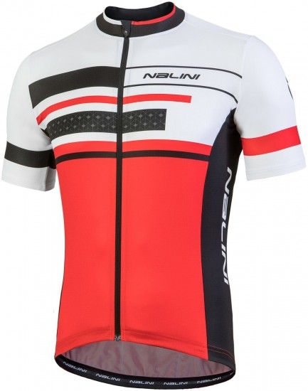 Nalini Pro Vittoria Jersey Short Sleeve Cycling Jersey Red (E18-4100)