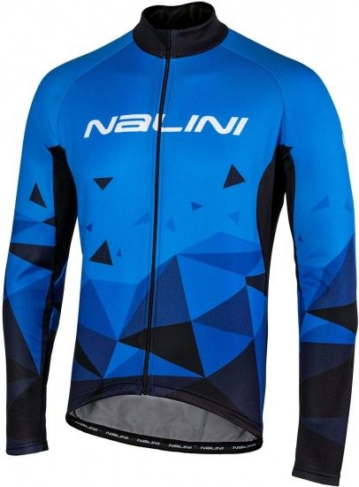 Nalini Pro Long Sleeve Cycling Jersey Logo Jersey Black/Blue (I18-4200)