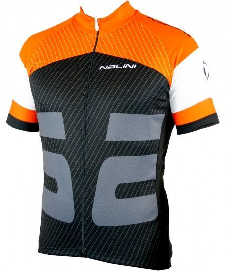 Nalini Rison Short Sleeve Cycling Jersey Black/Orange (E19-5150S)