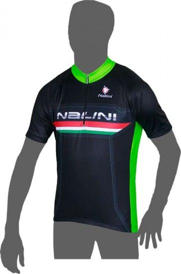 Nalini Vaxi Short Sleeve Jersey Black/Green