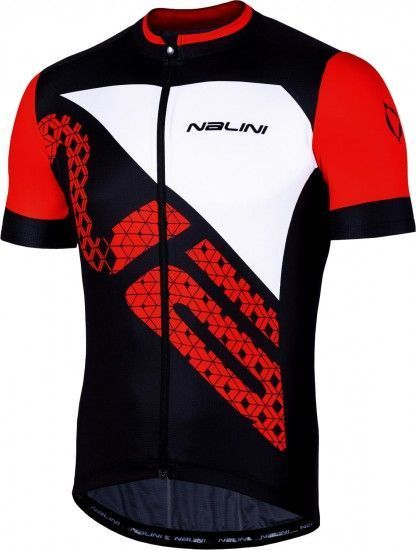 Nalini Vittoria 2.0 Short Sleeve Cycling Jersey Black/Red (E19-4000)