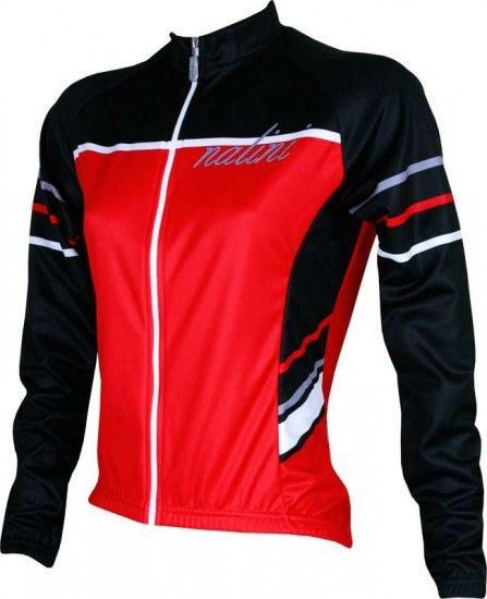 Nalini Zinara Long Sleeve Jersey For Ladies Black/Red (I15-510)