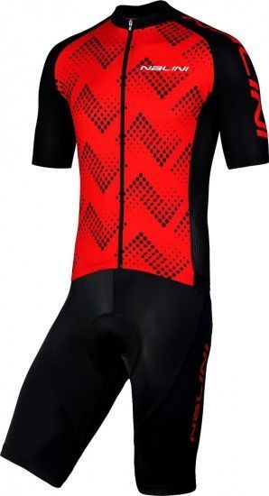 Nalini Cycling Set (Jersey Podio 2.0 + Bibshort Squadra) Red (E19)