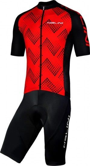 Nalini Cycling Set (Jersey Podio 2.0 + Bibshort Squadra) Red/Black (E19)