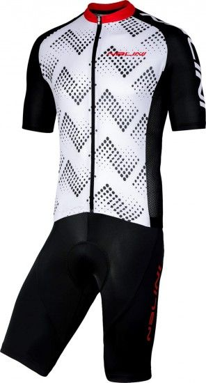 Nalini Cycling Set (Jersey Podio 2.0 + Bibshort Squadra) White/Red (E19)