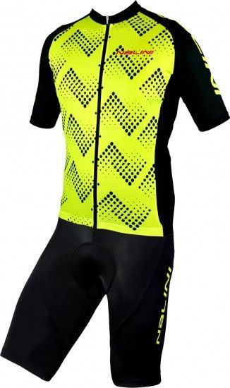 Nalini Cycling Set (Jersey Podio 2.0 + Bibshort Squadra) Yellow (E19)