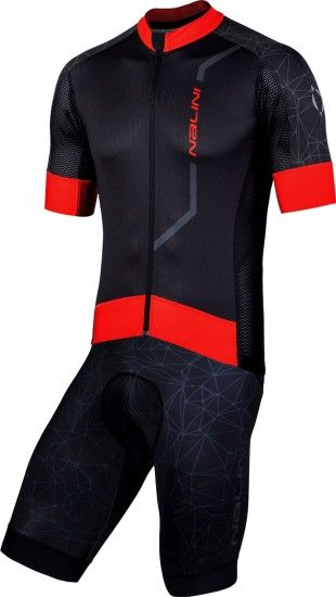 Nalini Cycling Set (Jersey Velocita 2.0 + Bibshort Leader 2.0) Black (E19)